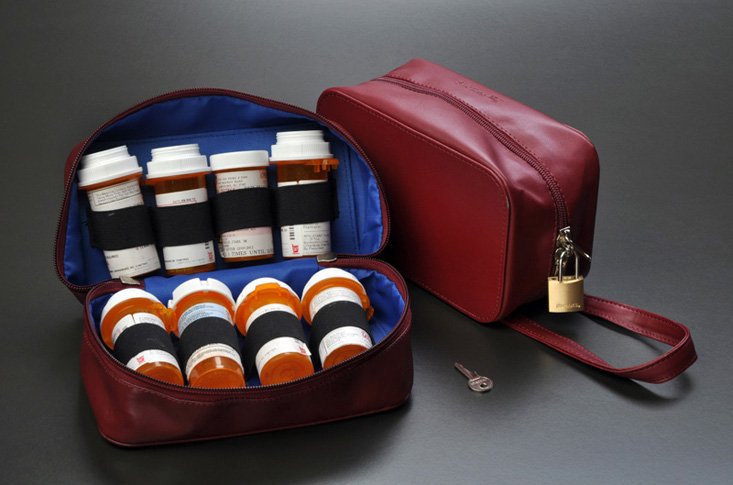 TSA Approved locking Medication bag